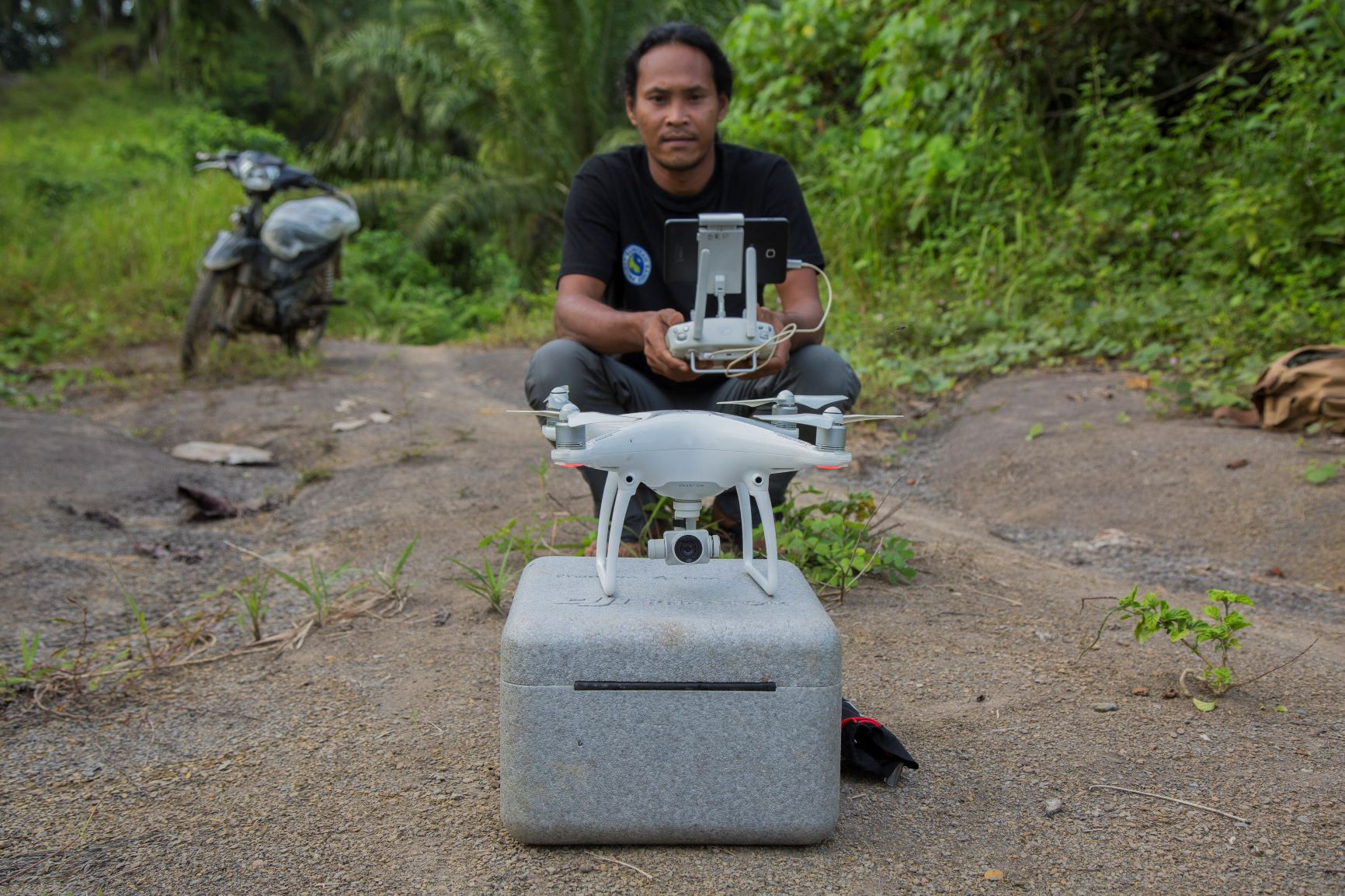 Agus with drone